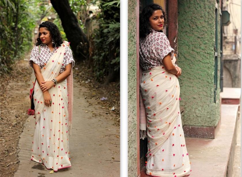 Modern Ways to Style a Saree This Nobo Borsho - Bengali New Year - Live Laugh Dressup